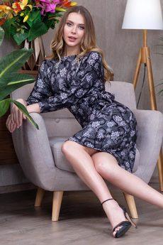 Красивое платье с поясом RUXARA