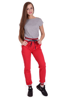 Красные спортивные брюки Трикотажница со скидкой
