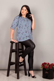 Новинка: хлопковая рубашка в полоску ИвРосТекстиль